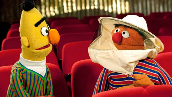 Ernie und Bert im Konzertsaal © NDR/Cordula Kropke