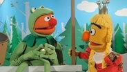 Frosch und Prinzessin am Brunnen © NDR / Uwe Ernst