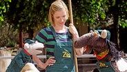 Wolle und Pferd im Zoo mit Rike © NDR / Uwe Ernst