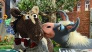 Pferd und die Eselin Marie © NDR Foto: Uwe Ernst