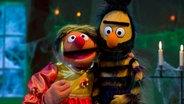 Ernie als  Schöne, Bert als Biest © NDR Foto: NDR
